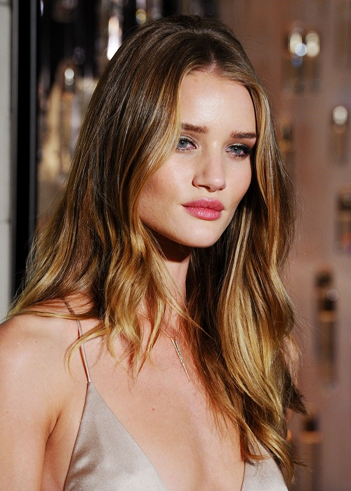 bronde hairstyle rosie huntington whiteley