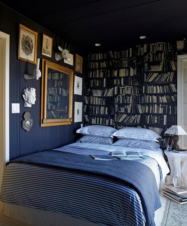 малка спалня в синьо