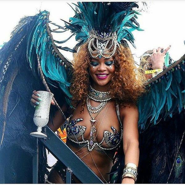 риана на карнавала в барбадос