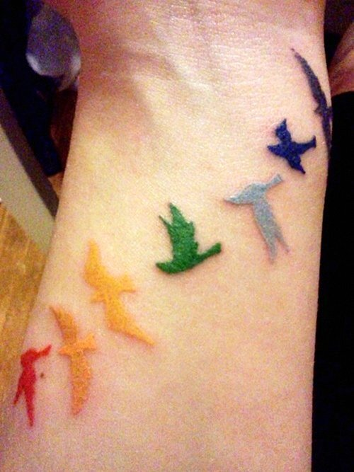 татуировки птици
