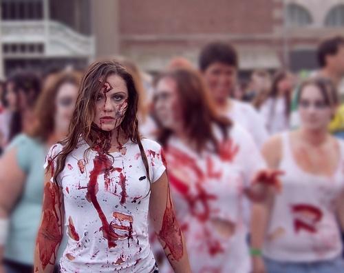 helouin zombi grim i kostum