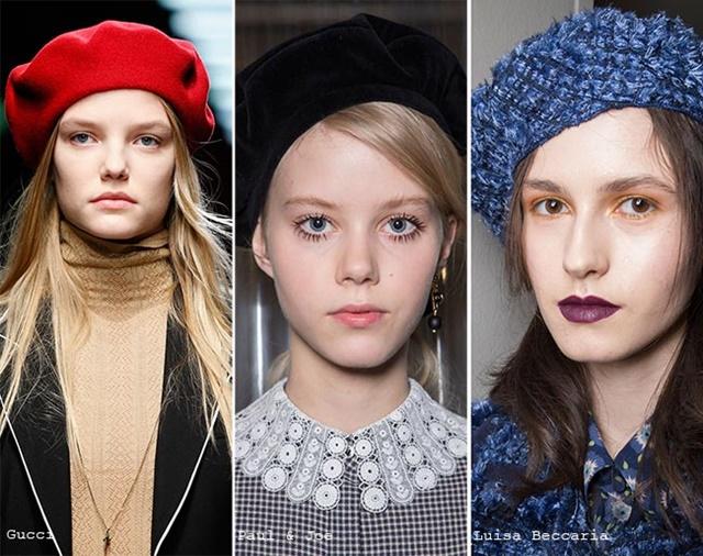 шапки за есента барета
