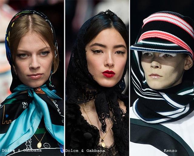 шапки за есента шал