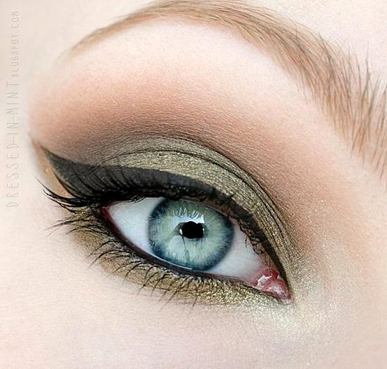 грим за сиви очи