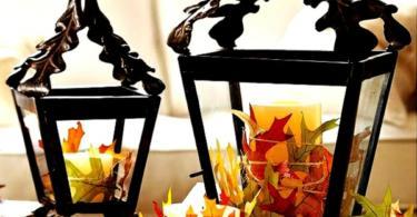 Декорация с есенни листа