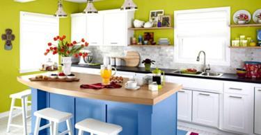 Идеи за цветни кухни