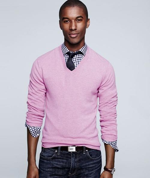 мъжка мода розово