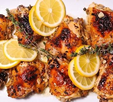 рецепта за пилешко с лимон и чесън