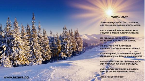стихотворения за зимата