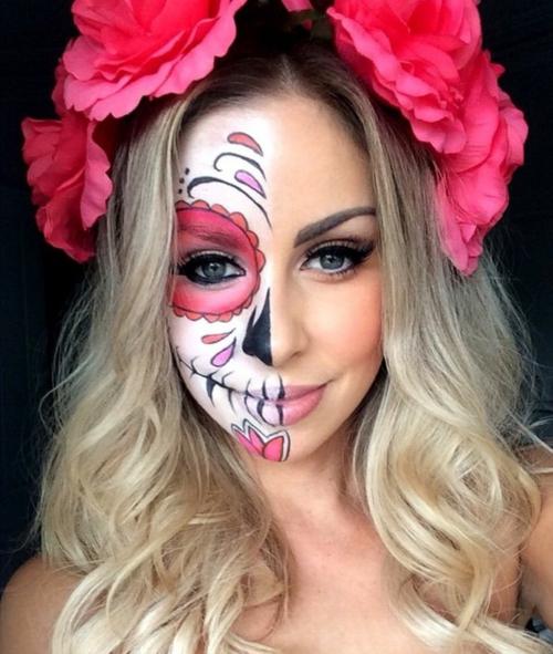 Хелоуин грим захарен череп