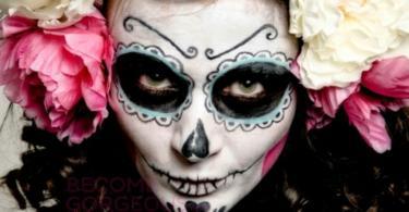 Хелоуин-грим-захарен-череп-13