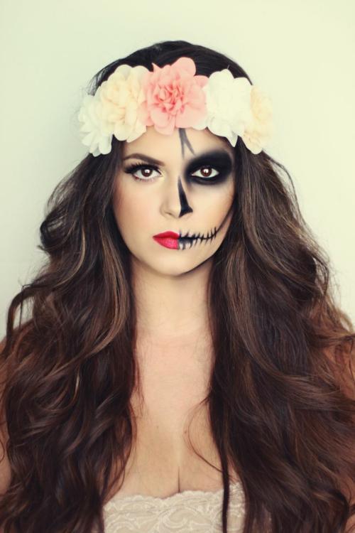 Хелоуин-грим-захарен-череп