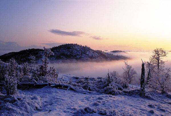 zimni peizaji planinski