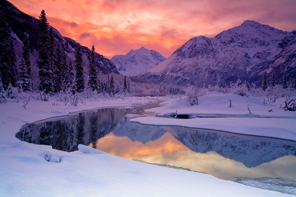 krasivi snejni zimni peizaji