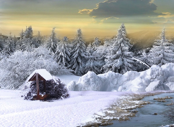 snejni peizaji zimni