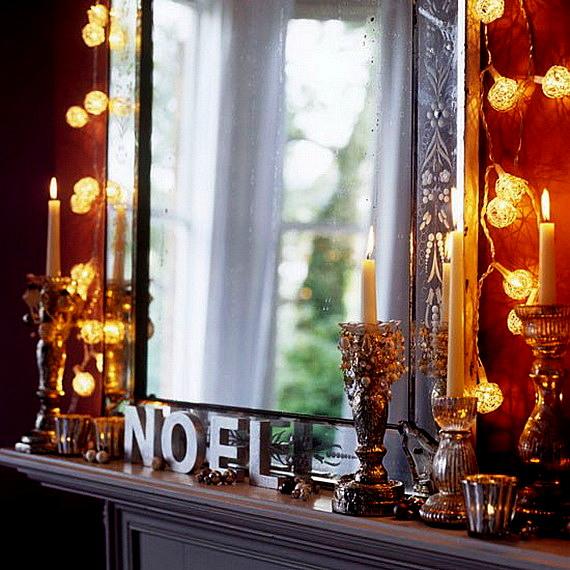 коледна украса с лампички