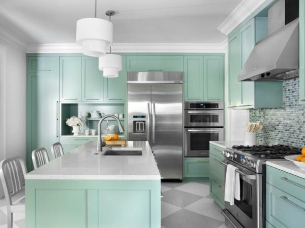 кухня в зелено