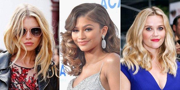 модерни прически за средно дълга коса