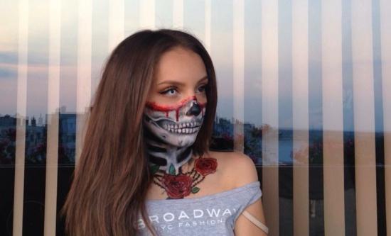 хелоуин-грим-за-жени-с-Малания-Янева