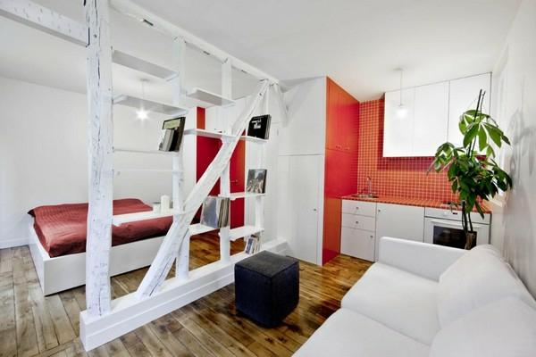 хол и спалня в едно