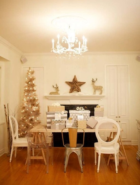 koledna ukrasa frenski stil za doma