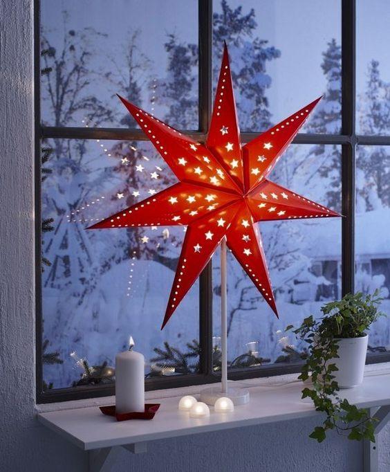 idei za koledna ukrasa za prozorci s sveteshta zvezda