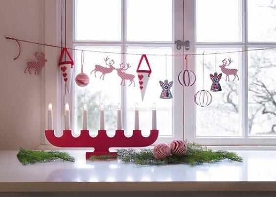 koledna ukrasa za prozorci s hartieni ruchno napraveni igrachki