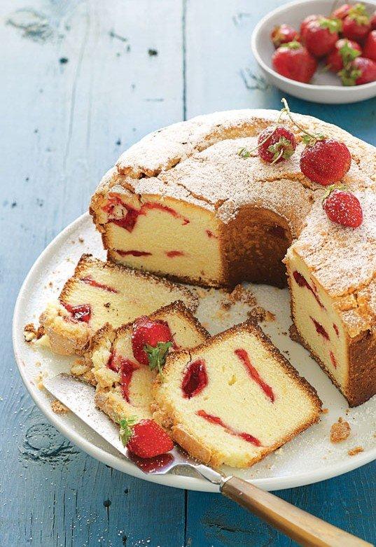лесен сладкиш - кекс с ягоди