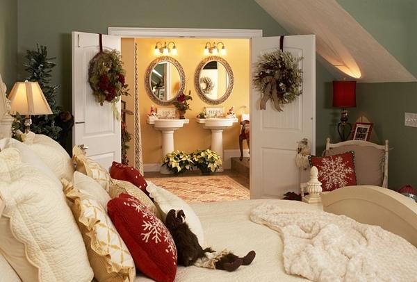 коледна украса за спалня