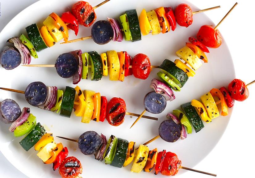 вегетариантски шишчета