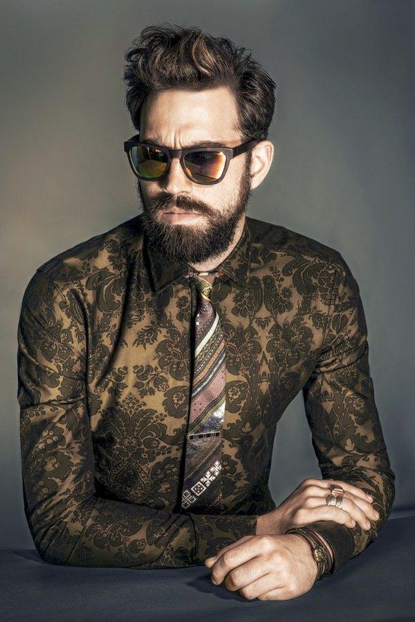 мъжки прически според брадата