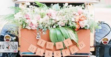 сватбена украса за кола-11
