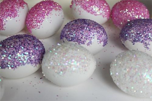 великденски яйца с брокат