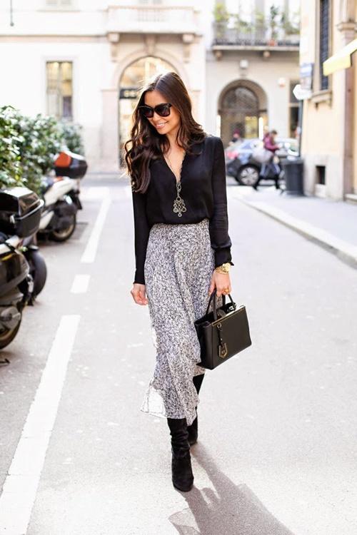 как да носим черно през зимата