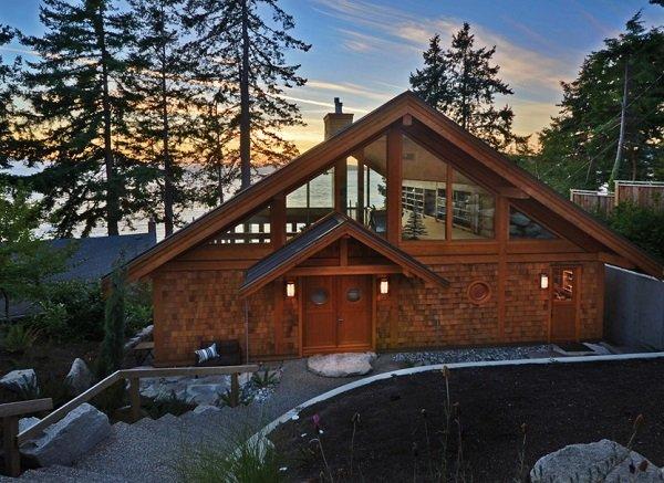 къщи от дърво и камък