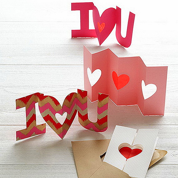 iznenada za sveti valentin ot hartiq i karton