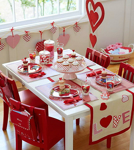 sveti valentin trapezna masa s dekoraciq