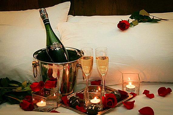 ideq za sveti valentin s rozi i shampansko