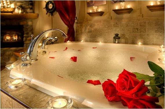 sveti valentin iznenada s vana i rozi