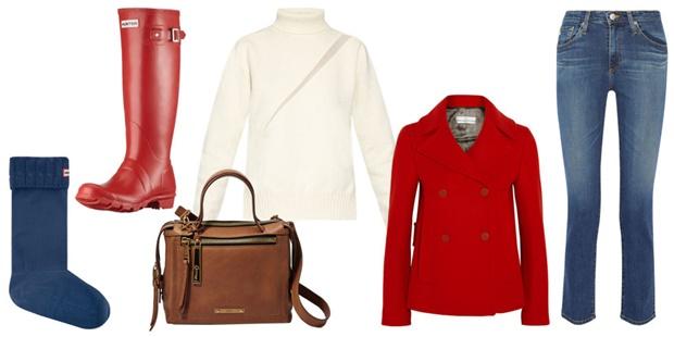 светло цветно зимата дрехи