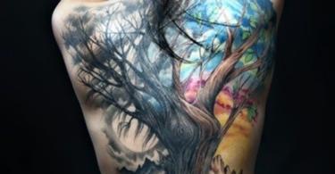 татуировки дърво
