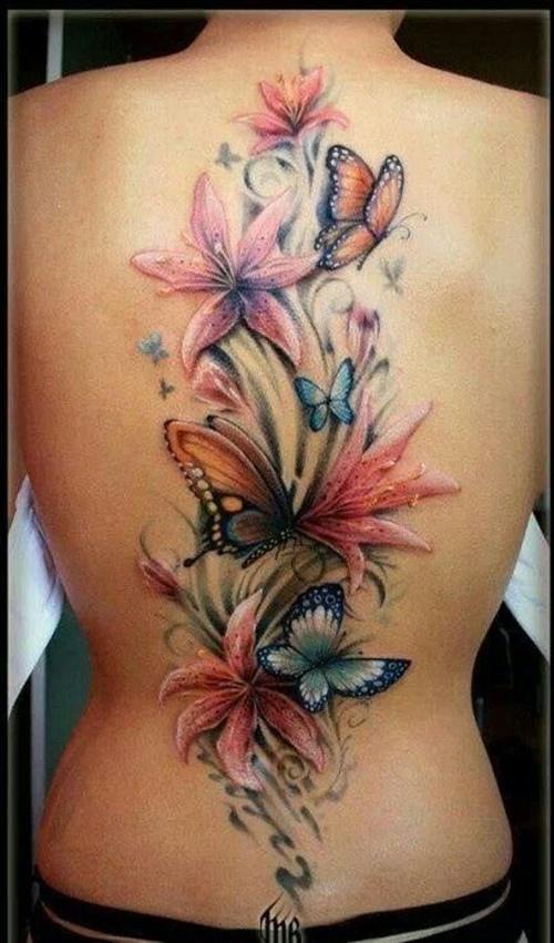 татуировки лилия
