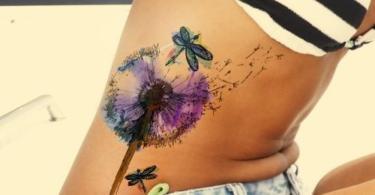 татуировки с глухарче