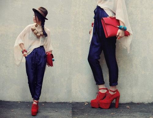 червени обувки