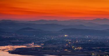 Sunset view from Monyak fortress near Kardzhali