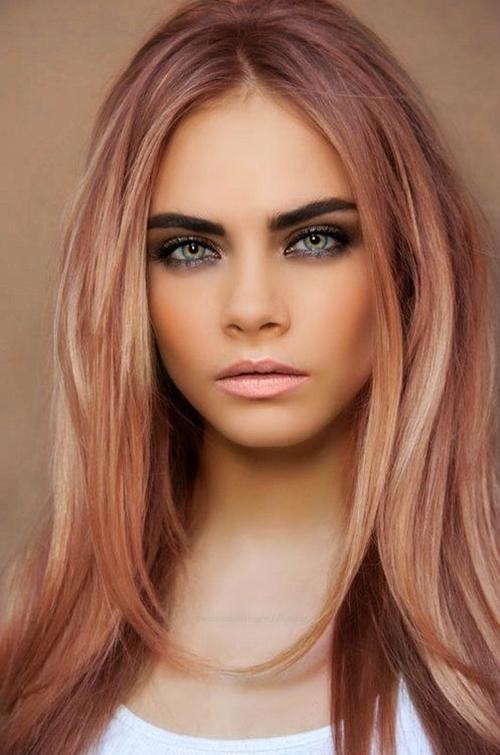 rozovo zlato cvqt za kosa