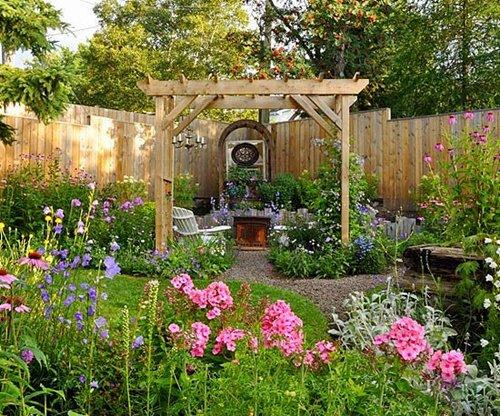 озеленяване на малка градина