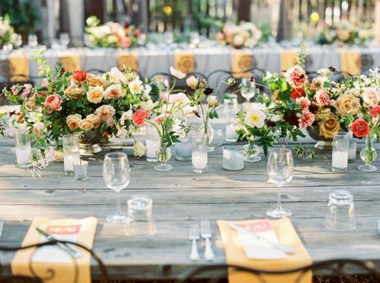 сватбена украса за маса