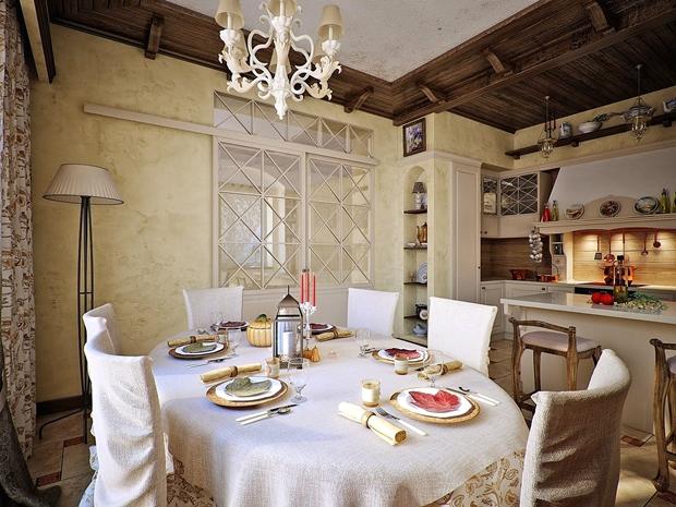кухня с трапезария