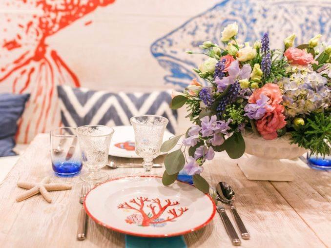 украса за маса в морски стил